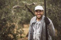 Portrait of worker at olive plantation, Jaen, Spain — Stock Photo