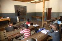 Madagaskar, Pupils in Fianarantsoa elementary school — Stock Photo