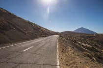 Spain, Tenerife, empty road in El Teide region — Stock Photo