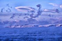 Arktischer Ozean, Wolken über der Barentssee — Stockfoto