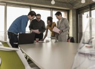 Business meeting in modern office with multiracial colleagues — Stock Photo