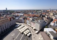 Germany, Augsburg, Townhall Square during daytime — Stock Photo