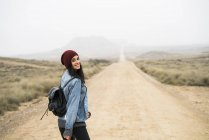 Woman walking in nature park — Stock Photo