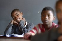 Madagaskar, portrait of Pupils in Fianarantsoa elementary school — Fotografia de Stock