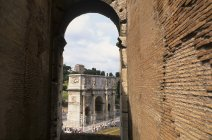 Arco di Constantino (Arch of Constantine) in Rome during daytime — Stock Photo