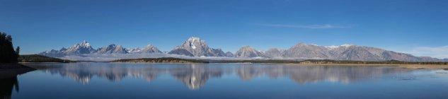 États-Unis d'Amérique, Wyoming, Rocky Mountains, Teton Range, Grand Teton National Park — Photo de stock