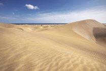 Dunes de sable d'or à Maspalomas, Gran Canaria, îles Canaries, Espagne — Photo de stock