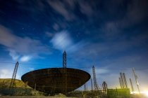 España, Tenerife, radar de noche - foto de stock