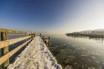 Зимняя сцена из Кимзе, Бавария, Германия, Европа — стоковое фото