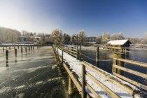 Winter scene from Chiemsee, Bavaria, Germany, Europe — Stock Photo