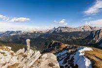 Italia, Sud Tirolo, Villnoess Valley, Kreuzkofel Group — Foto stock