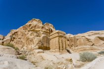 Blockgrubber, blocchi di Djinn, Petra Rock City, capitale nabatea, Unesco World Heritage sito, Giordania, Asia — Foto stock