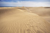 Spain, Canary Islands, Gran Canaria, sand dunes in Maspalomas — Stock Photo