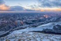 Зимний рассвет, Апеннины — стоковое фото