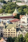Latvia, Riga, old town with powder magazine — Stock Photo