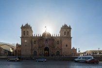 Sdamerika, Peru, Anden, Cusco, Plaza de Armas und Kathedrale of Cusco (Cusco Cathedral, Catedral del Cuzco) — Stock Photo
