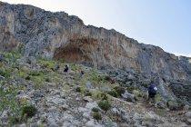 Дневное время портрет людей, поход в Скалистых горах — стоковое фото