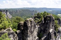 Germany, Saxony, Elbe Sandstone Mountains, Rock formations — Stock Photo