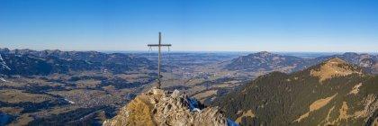 Panorama of Rubihorn, 1957m,, Allgaeuer Alpen, Allgaeu, Bayern, Germany , Europe — Photo de stock