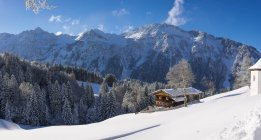 Germany, Bavaria, Allgaeu, Allgaeu Alps, Gerstruben in winter — Photo de stock