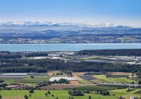 Alemanha, Baden-Wuerttemberg, Lago de Constança e pomares como visto de Gehrenberg — Fotografia de Stock
