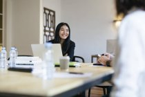 Businesspeople working together in modern office — Stock Photo