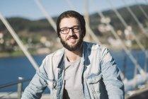 Ritratto casuale di giovane uomo, Ferrol, Galizia, Spagna — Foto stock