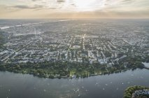 Outer Alster Lake in serata ad Amburgo — Foto stock