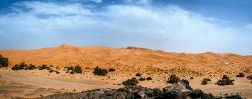 Morocco, Merzouga, panoramic view of Erg Chebbi desert — Stock Photo