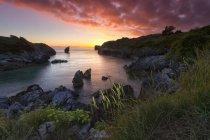 Praia selvagem nas Astúrias — Fotografia de Stock