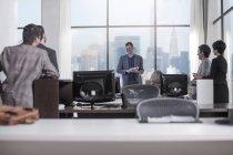 Bureau de New York city, ceux qui travaillent au bureau de la ville — Photo de stock