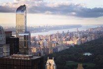 США, Нью-Йорка Манхеттен з One57 будівлі і Центрального парку — стокове фото