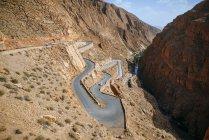 Ouarzazate, Marokko Straße in die Schlucht des Dades — Stockfoto
