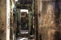 Камбоджа, Ангкор-Ват, Ангкор Тома, stone допомоги в Байон храм — стокове фото