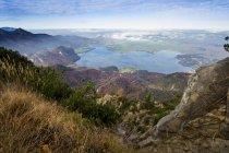 Germany, Bavaria, Jochberg, View of Lake Kochelsee — Stock Photo