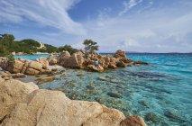 Италия, Сардиния, рок побережье Capriccioli солнце — стоковое фото