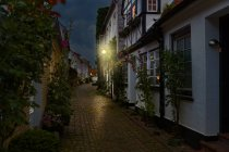 Germany, Eckernfoerde, alley in the old town — Stock Photo