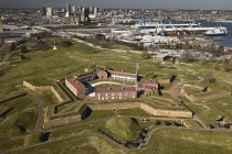 USA, Maryland, aerial view of Fort McHenry in Baltimore — Stock Photo