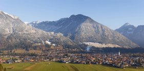 Germany, view to Oberstdorf with Allgaeu Alps in the background — Stock Photo