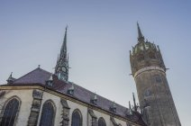 Castle church in Lutherstadt Wittenberg — Stock Photo