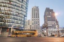 Німеччина, Берлін, Потсдамської площі у вечірній час — стокове фото