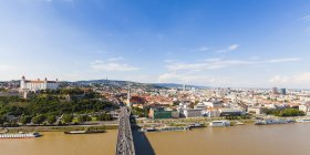 View of Bratislava landscape and river during daytime, slovakia — Stock Photo