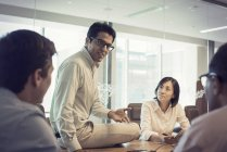 Business people in meeting having interesting discussion — Stock Photo