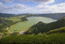 Portugal, Azores, Sao Miguel, Lagoa das Furnas - foto de stock