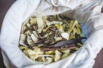 Bolsa con hierbas y especias para aromatizar la Ginebra - foto de stock