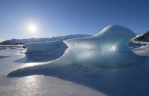 Piccolo iceberg su un ghiacciaio, Islanda — Foto stock