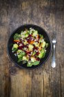 Autumnal salad with lettuce — Stock Photo
