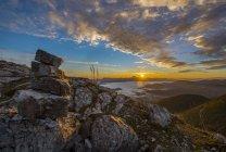 Mt San Vicino at sunrise in Autumn — Stock Photo