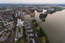 Germany, Duessseldorf, aerial view of Media Harbor — Stock Photo