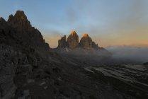 Paternkofel and Tre Cime di Lavaredo — Photo de stock